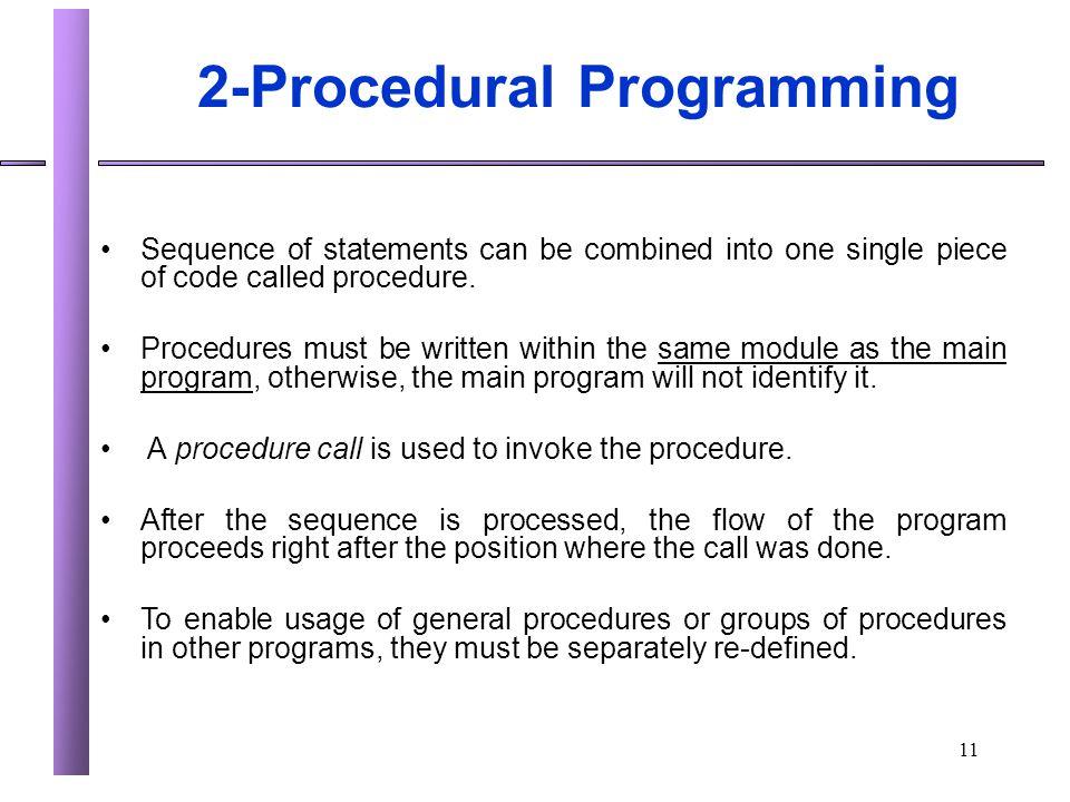 2-Procedural Programming