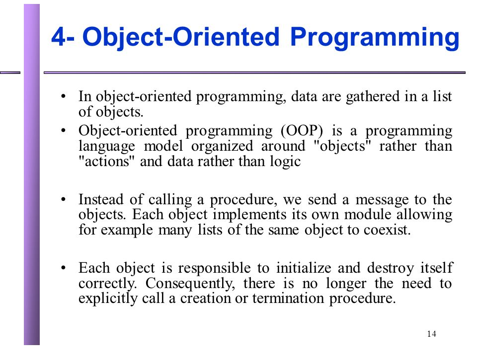 4- Object-Oriented Programming