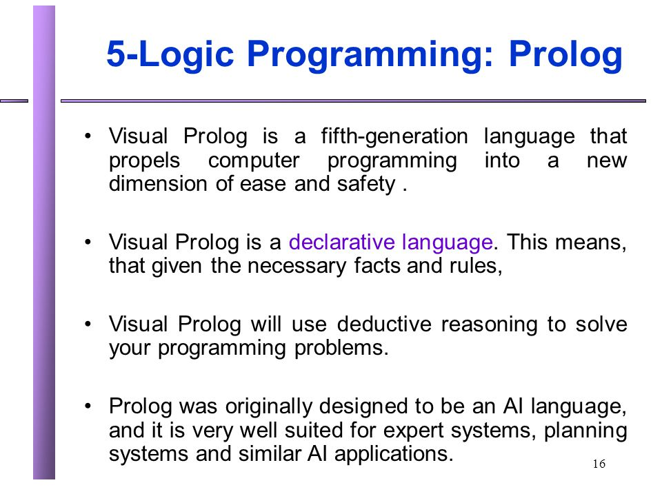 5-Logic Programming: Prolog