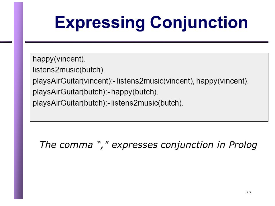 Expressing Conjunction