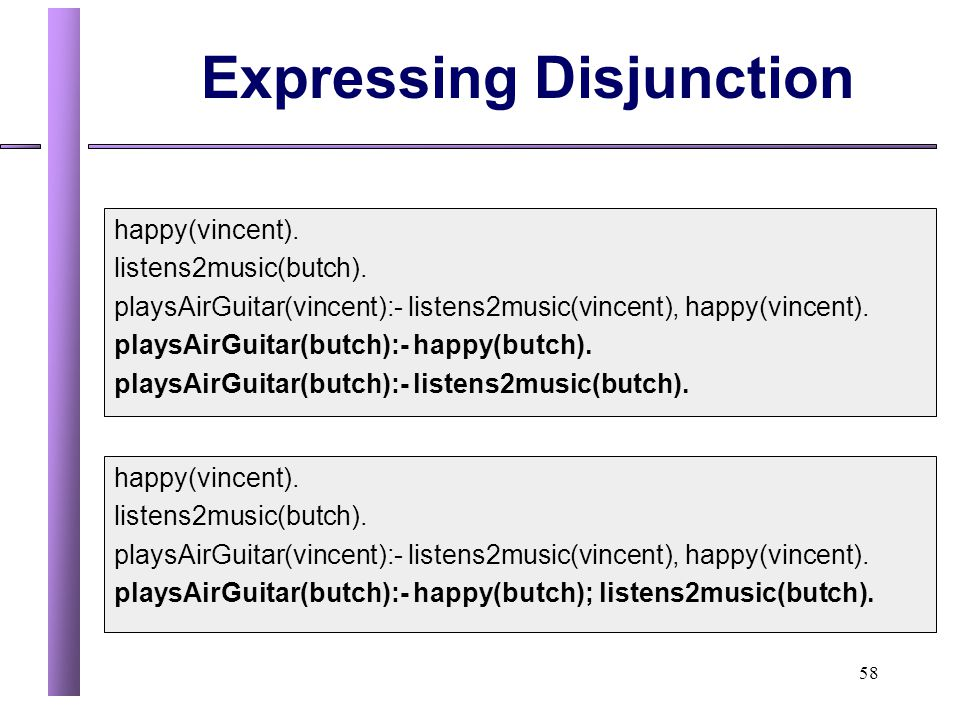 Expressing Disjunction