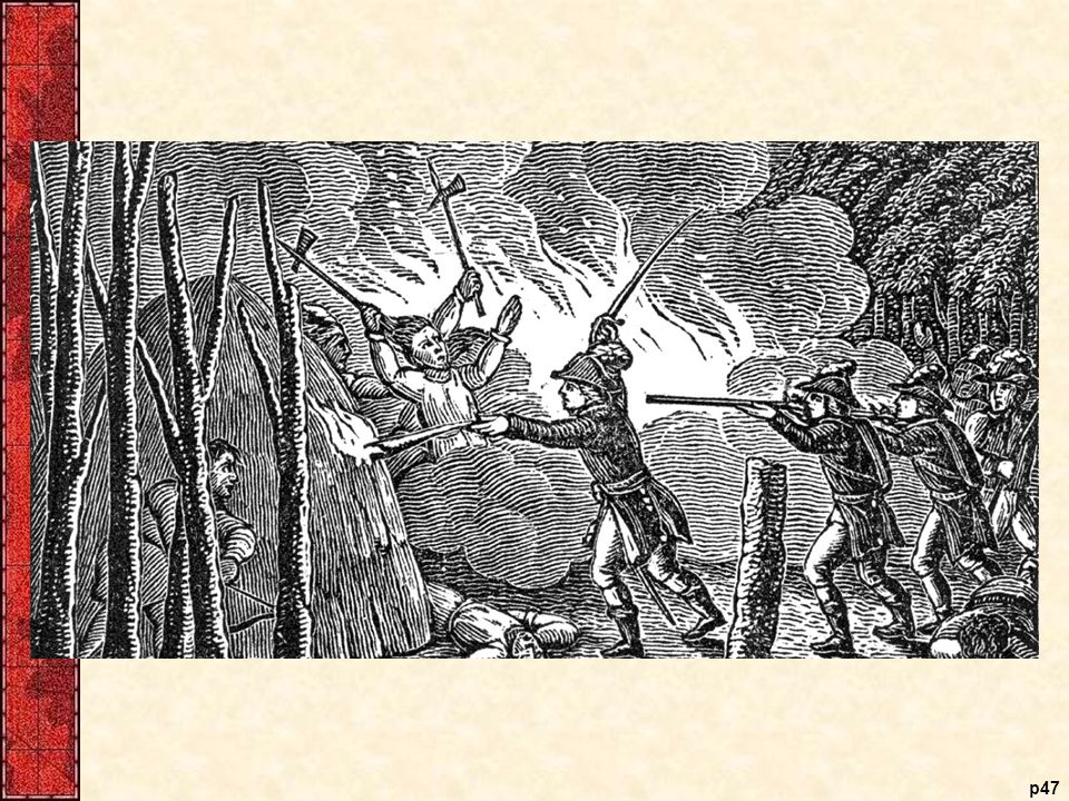 Attack on a Pequot Fort During the Pequot War of