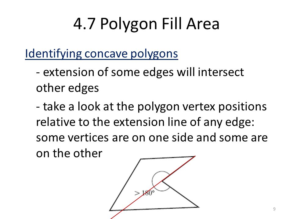 4.7 Polygon Fill Area