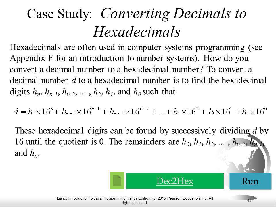 Case Study: Converting Decimals to Hexadecimals