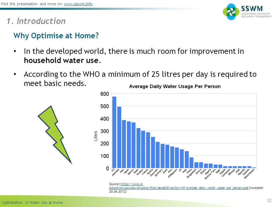 1. Introduction Why Optimise at Home