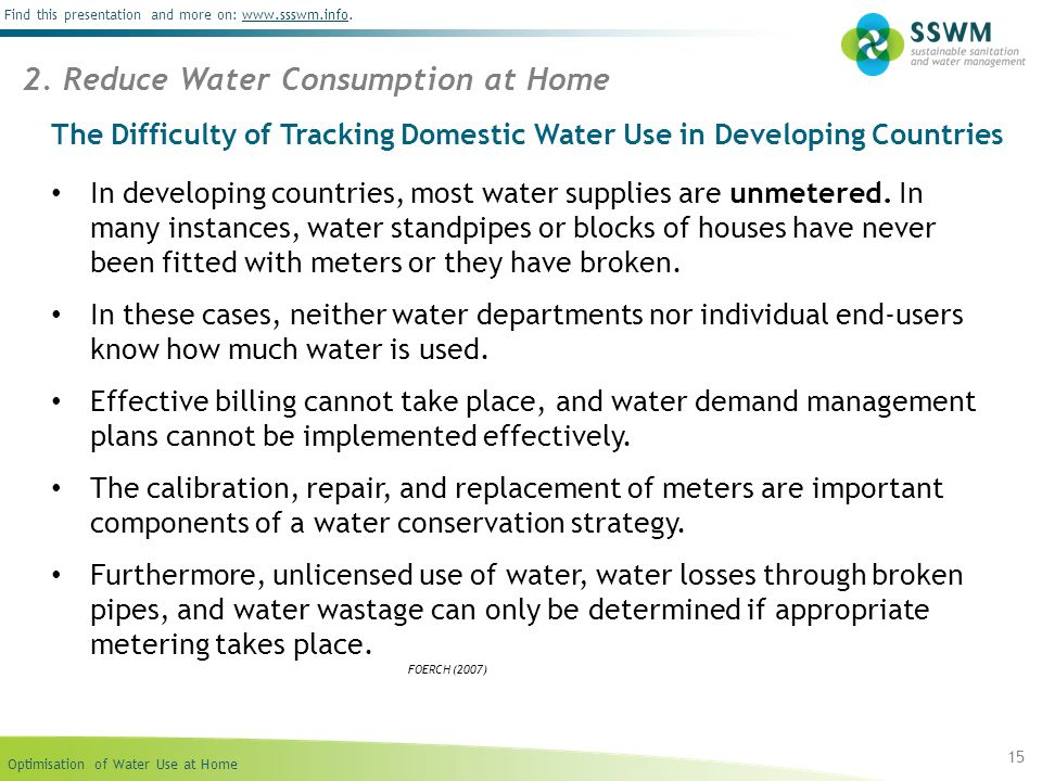 The Difficulty of Tracking Domestic Water Use in Developing Countries