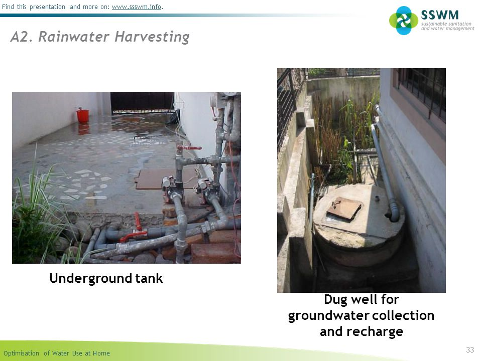 Dug well for groundwater collection and recharge