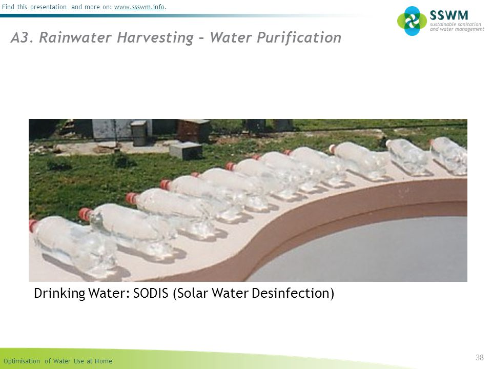 A3. Rainwater Harvesting – Water Purification