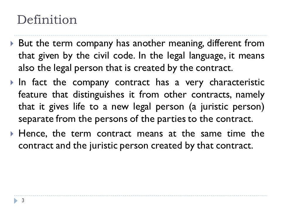 Company law The general theory Partnership company Joint ...