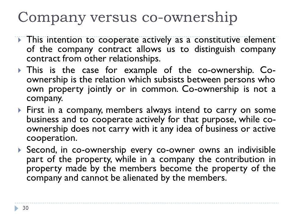 Company versus co-ownership