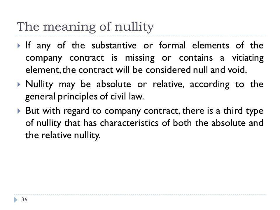 The meaning of nullity