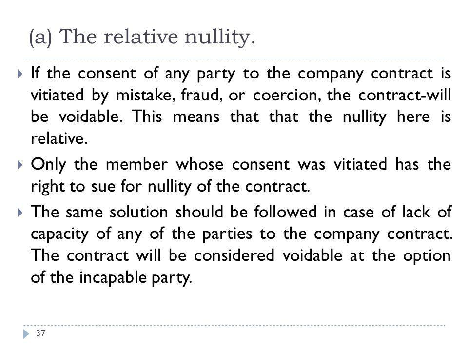 (a) The relative nullity.