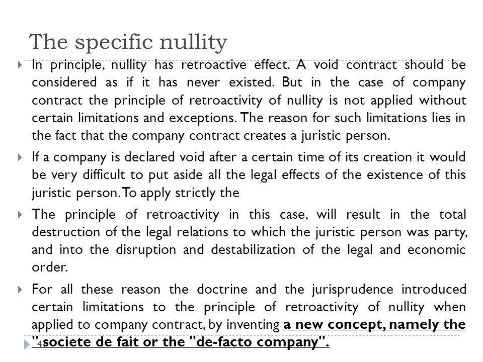 The specific nullity