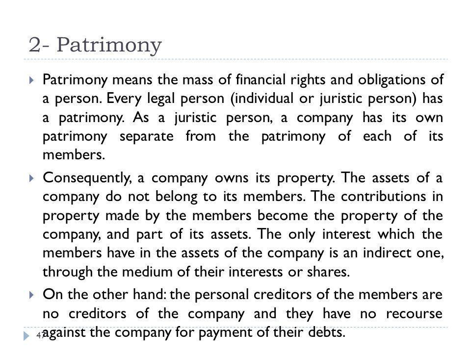 2- Patrimony