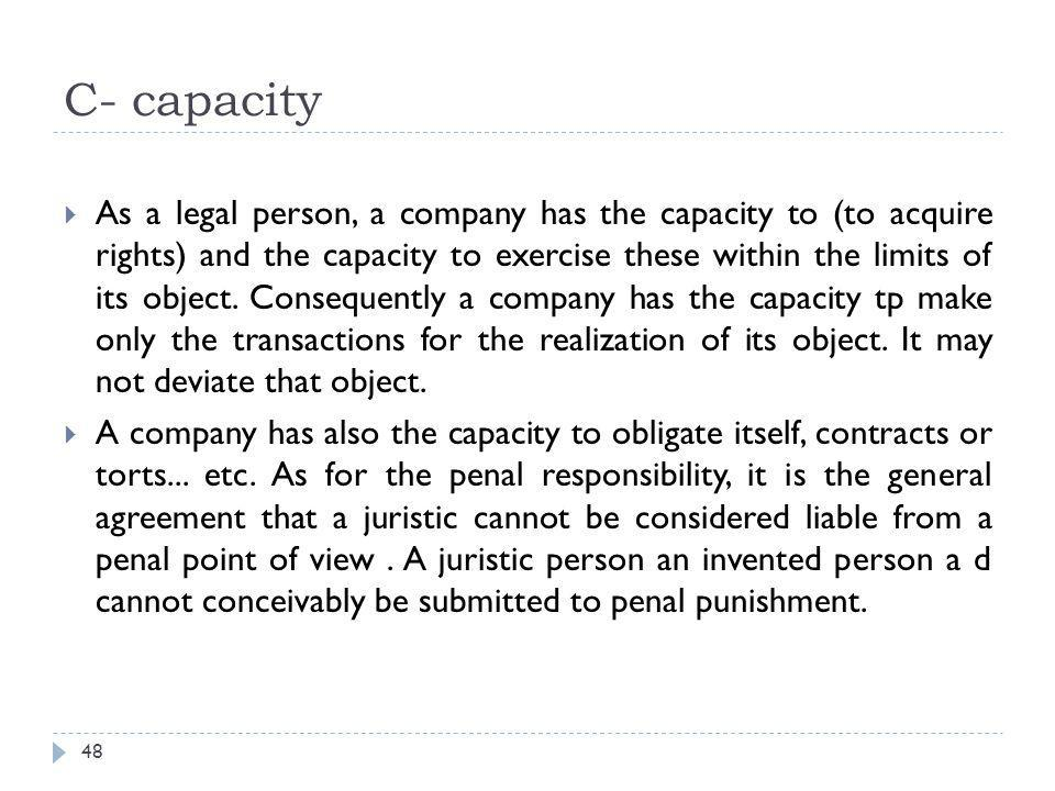 C- capacity