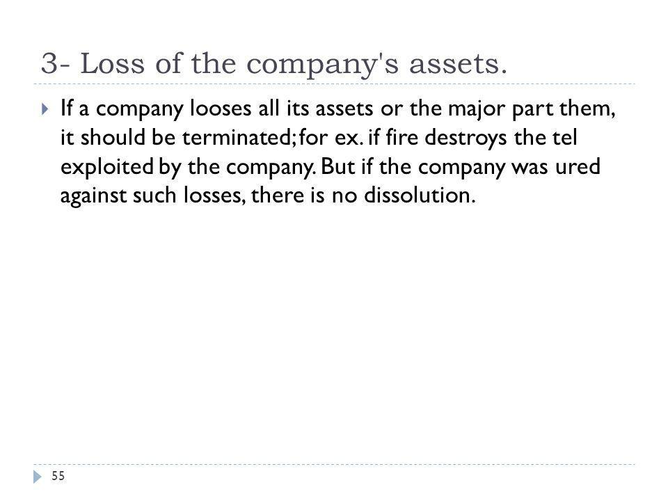 3- Loss of the company s assets.