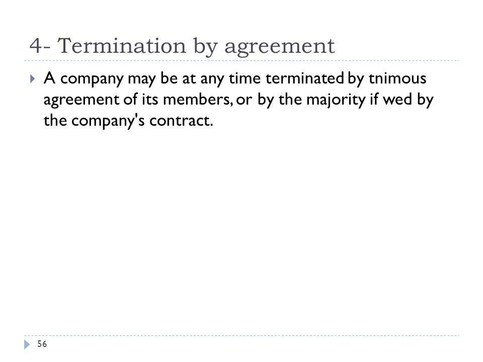 4- Termination by agreement
