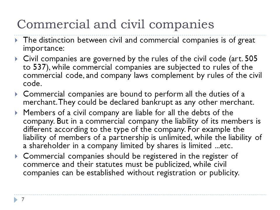 Commercial and civil companies