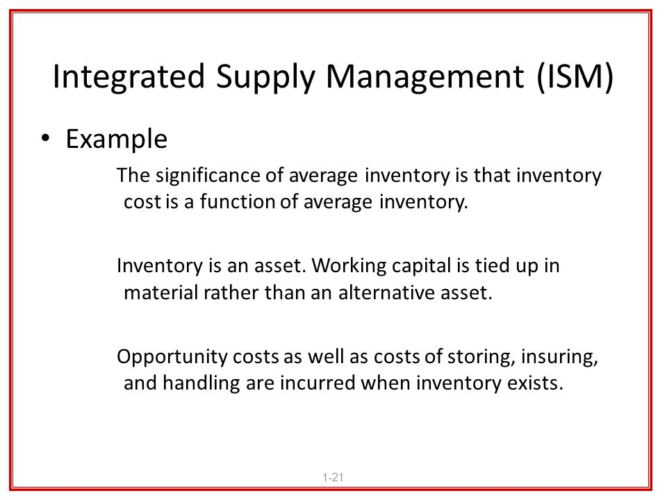 Integrated Supply Management (ISM)