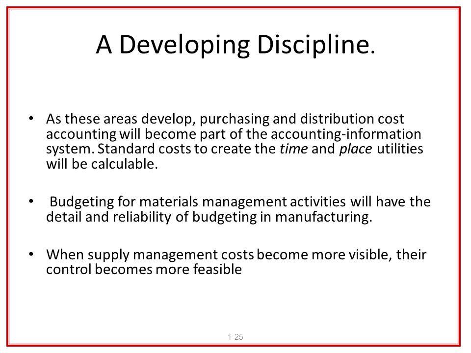 A Developing Discipline.