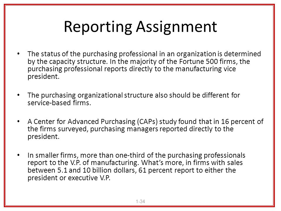 Reporting Assignment
