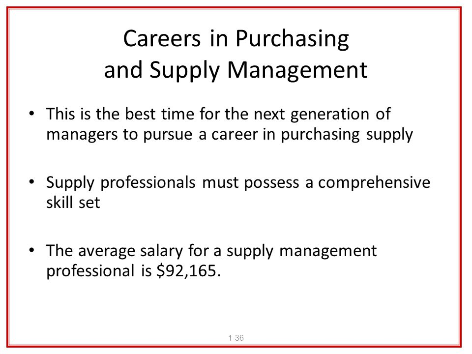 Careers in Purchasing and Supply Management