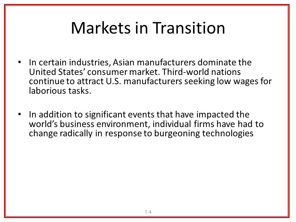 Markets in Transition