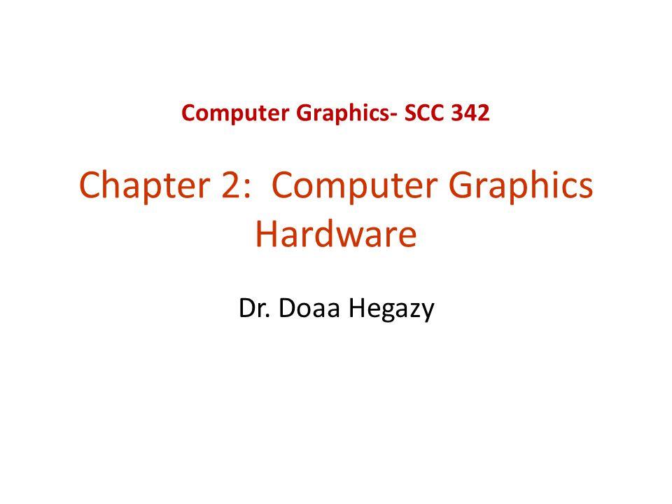 Computer Graphics- SCC 342