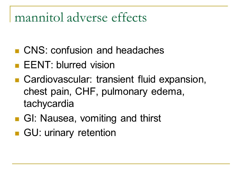 mannitol adverse effects