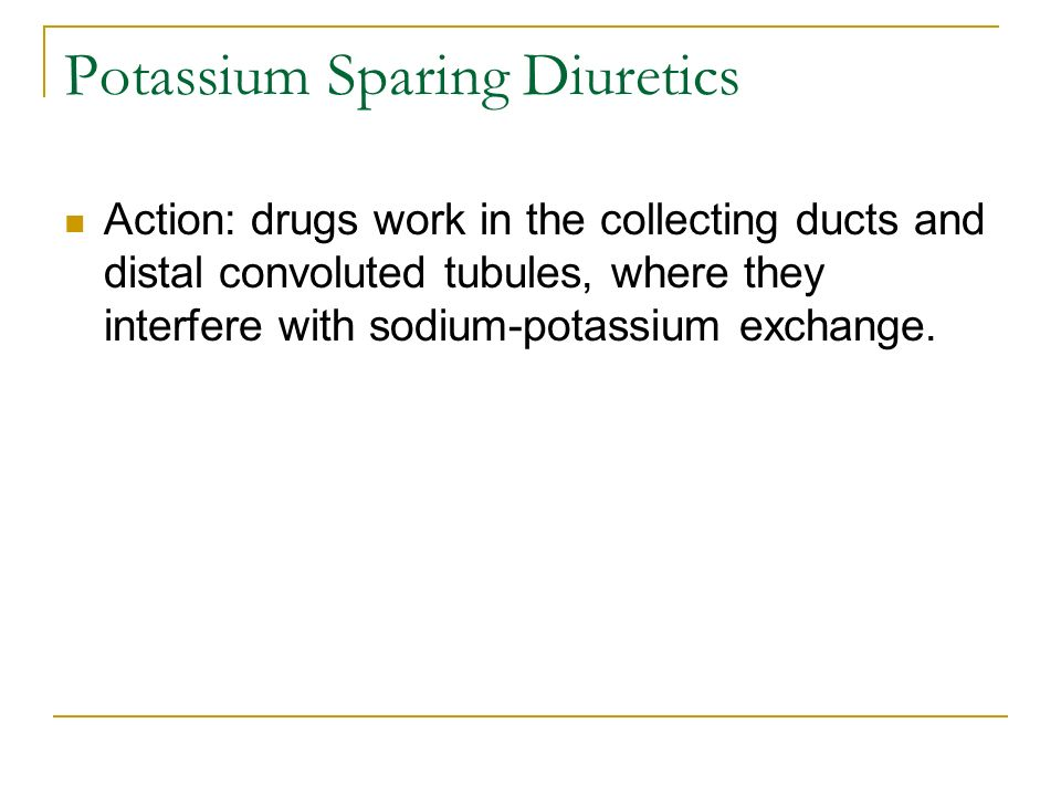 Potassium Sparing Diuretics