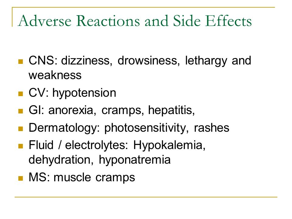 Adverse Reactions and Side Effects