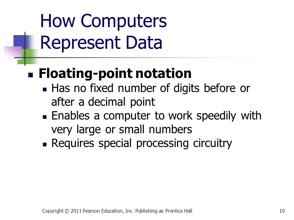 How Computers Represent Data