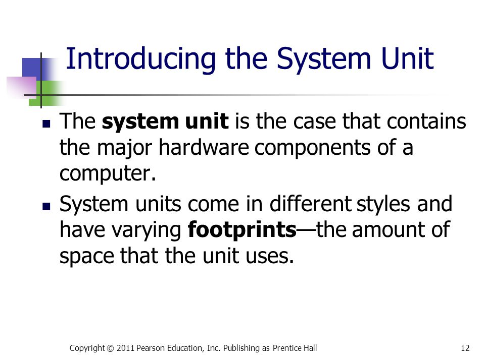 Introducing the System Unit