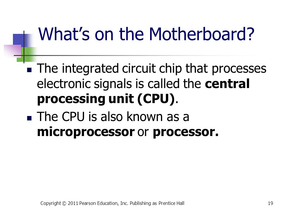 What's on the Motherboard
