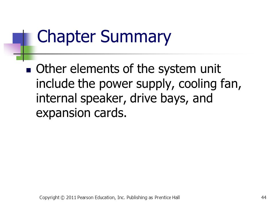 * 07/16/96. Chapter Summary.