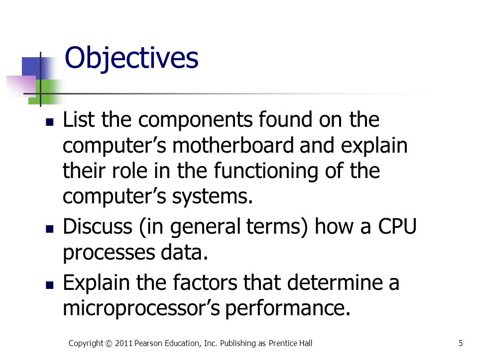 * 07/16/96. Objectives.