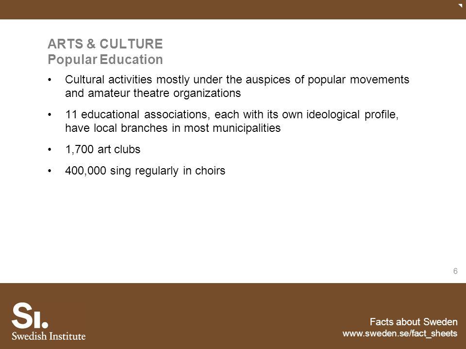 ARTS & CULTURE Popular Education