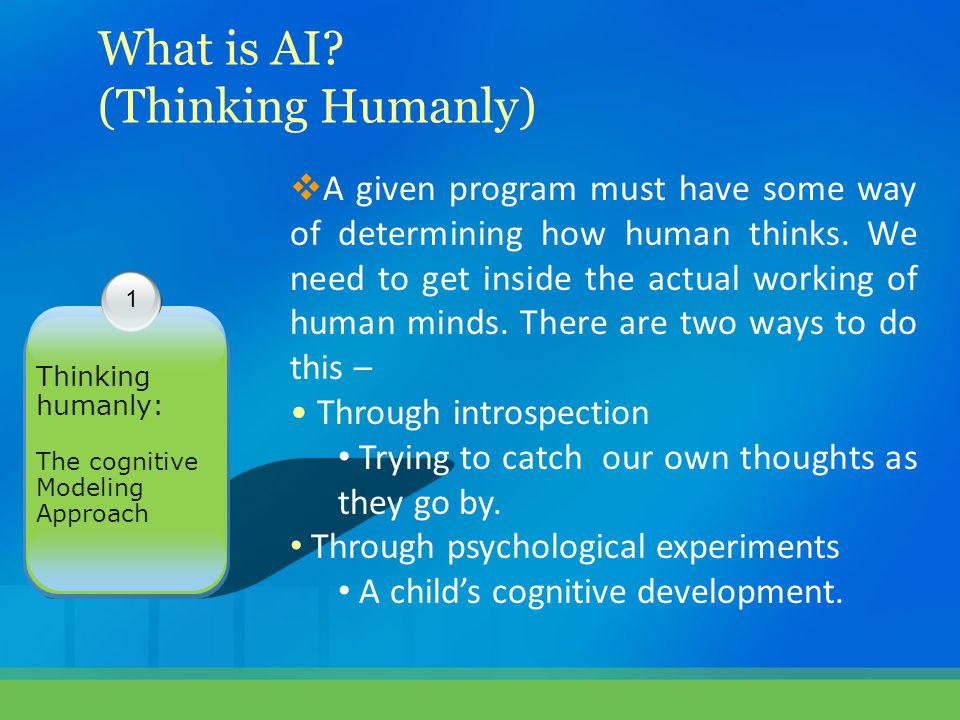 What is AI (Thinking Humanly)