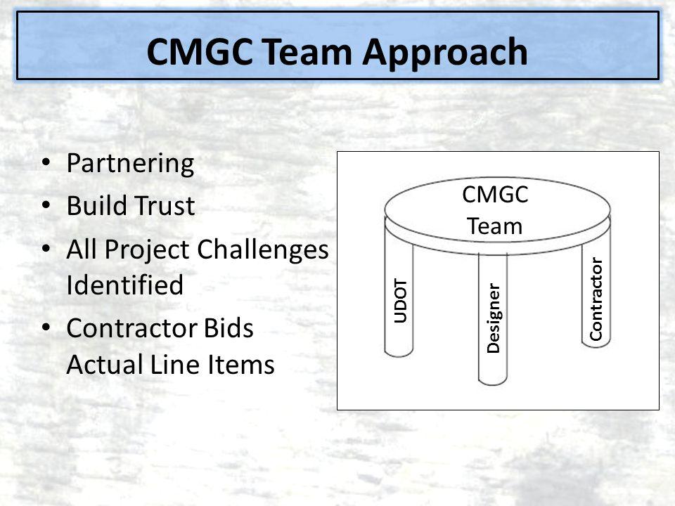 CMGC Team Approach Partnering Build Trust