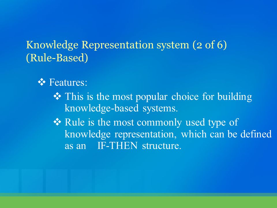 Knowledge Representation system (2 of 6)