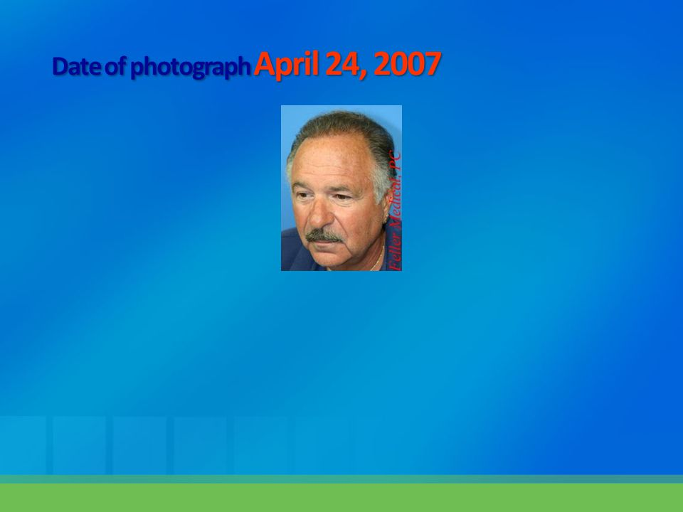 Date of photograph April 24, 2007