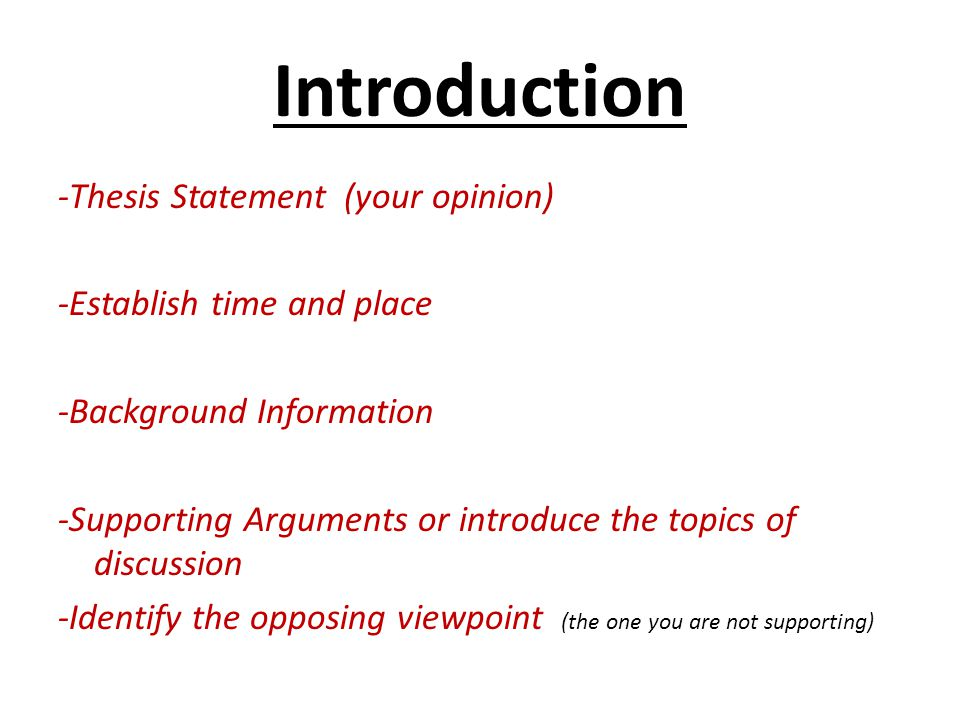 introductions for opinion essays Writing skills practice an opinion essay look at the essay and do the exercises to improve your writing skills instructions in my opinion.