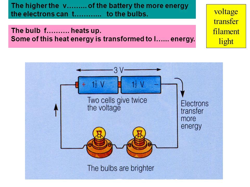 voltage transfer filament light
