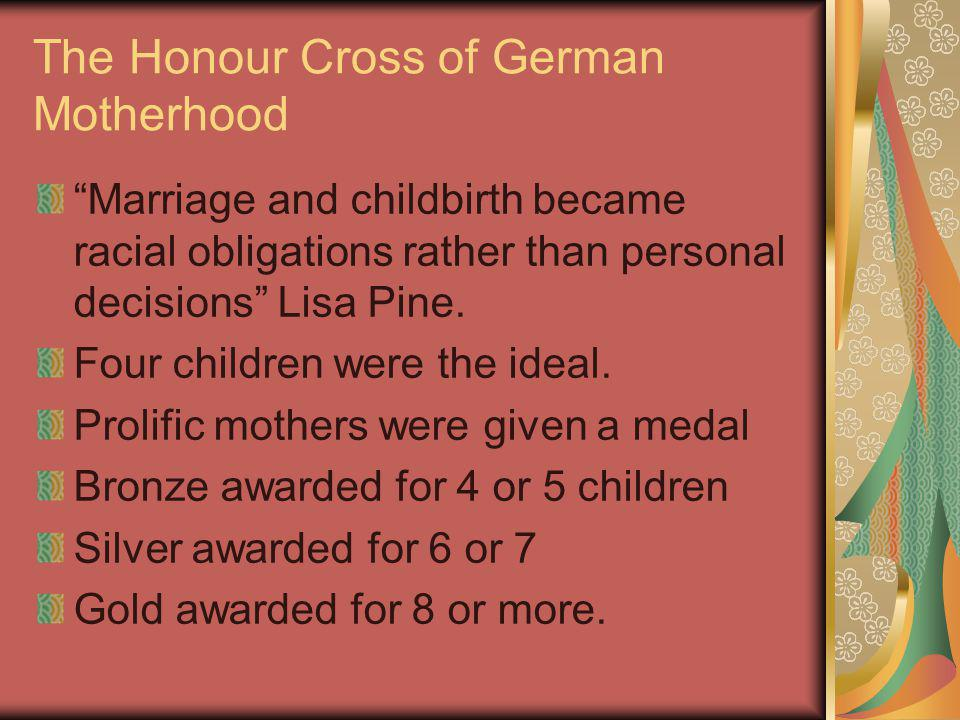 The Honour Cross of German Motherhood