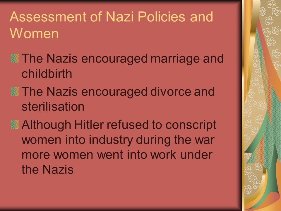 Assessment of Nazi Policies and Women