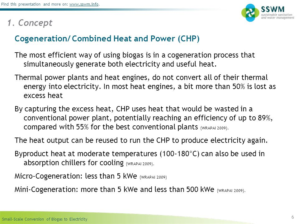 Cogeneration/ Combined Heat and Power (CHP)
