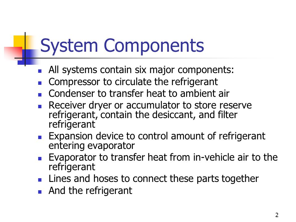 System Components All systems contain six major components: