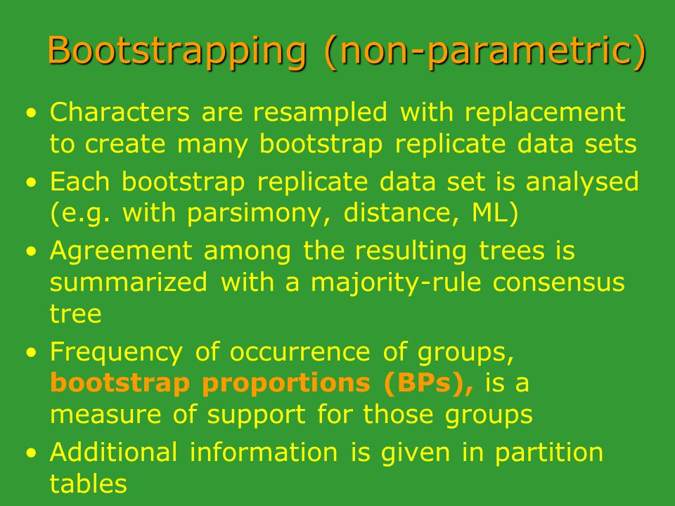 Bootstrapping (non-parametric)