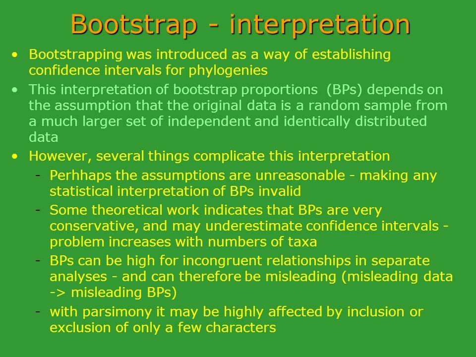 Bootstrap - interpretation
