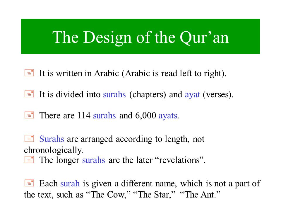 The Design of the Qur'an